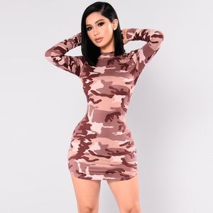 🔥🔥NEW🔥🔥 Sexy T-Shirt Dress Long Sleeves Camo